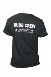 Adventure International Black Bude Crew T-Shirt